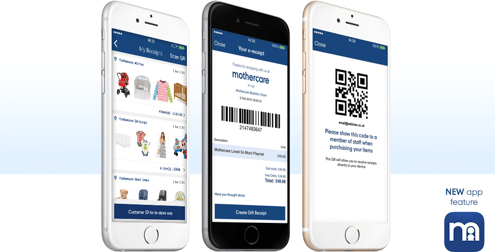 Mothercare Digital Receipts